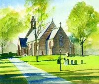 Watercolor of church