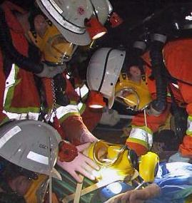 Mine rescue drill