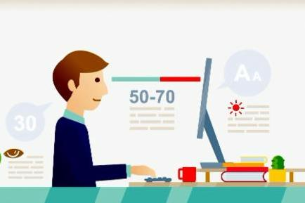 Ergonomic-office-desk-illustration