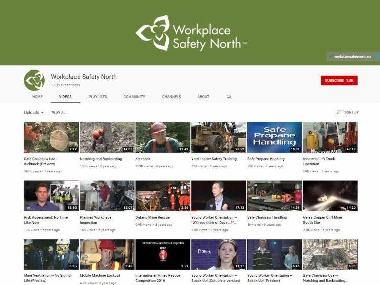 Filmstrip of YouTube video listings