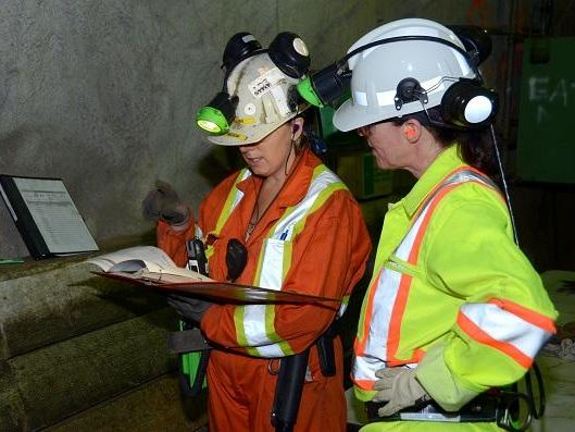Two female mine workers