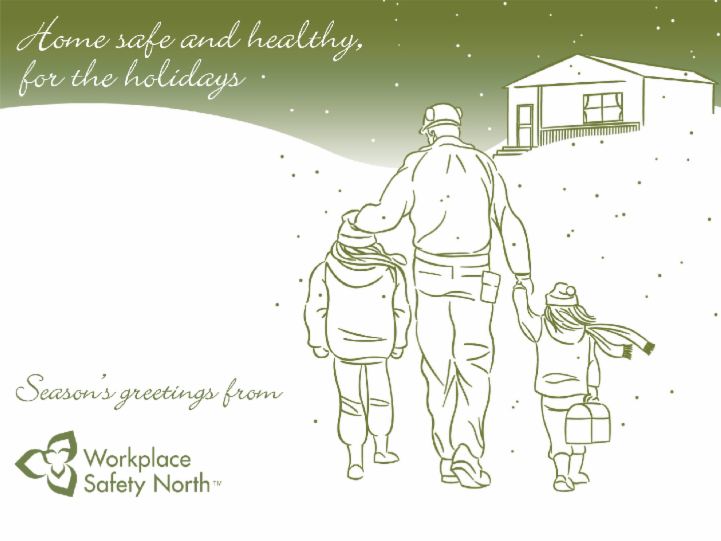 Workplace Safety North holiday postcard