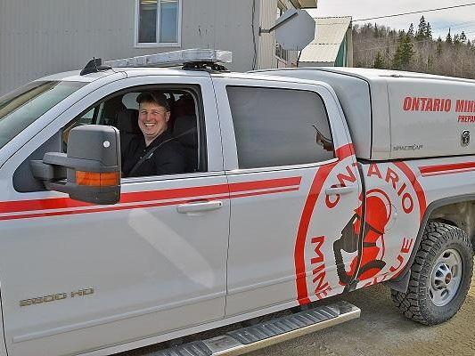 Ontario Mine Rescue truck