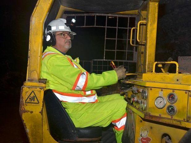 Miner driving mobile equipment
