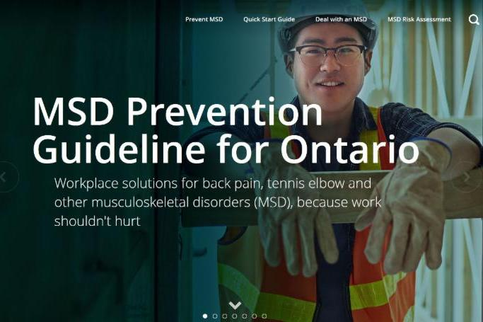 MSD website Ontario