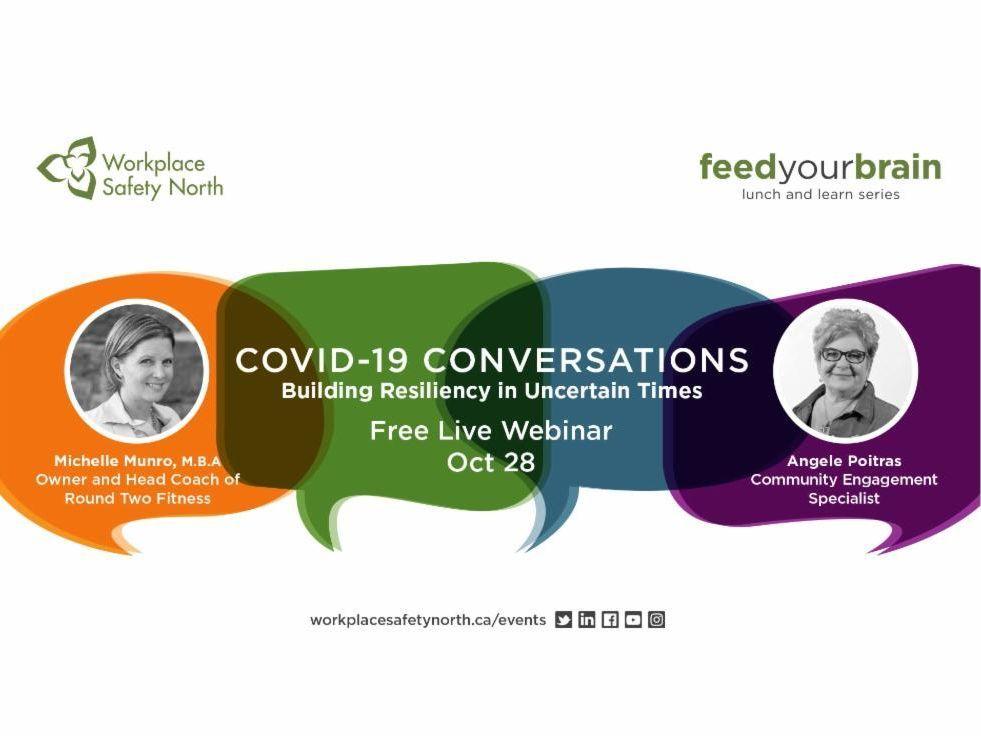 COVID-19 Conversations webinar graphic