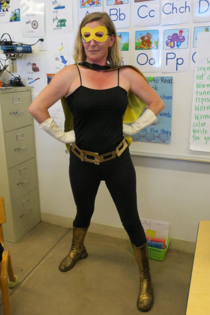 Superhero teacher