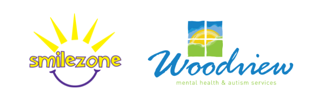 Smilezone Foundation and Woodview logos