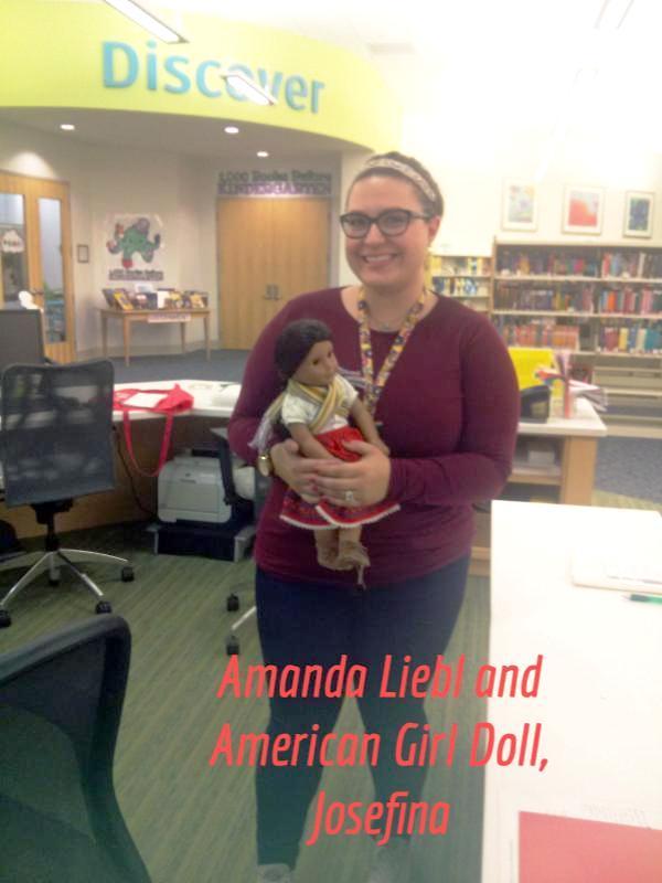 Amanda Liebl and American Girl Doll, Josefina