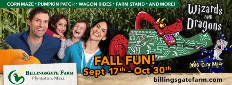 Fall Fun at Billingsgate Farm! Corn Maze, Pumpkin Patch, and more!