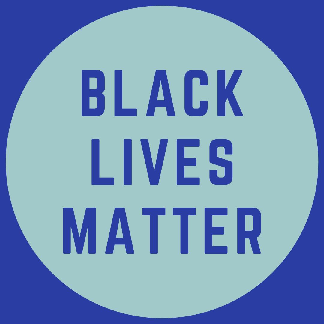 Black Lives Matter Blue Circle