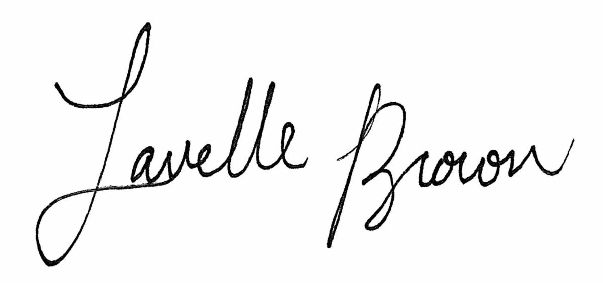 Lavelle Brown signature