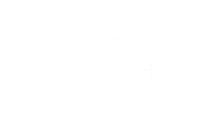 Chicago Lights logo white