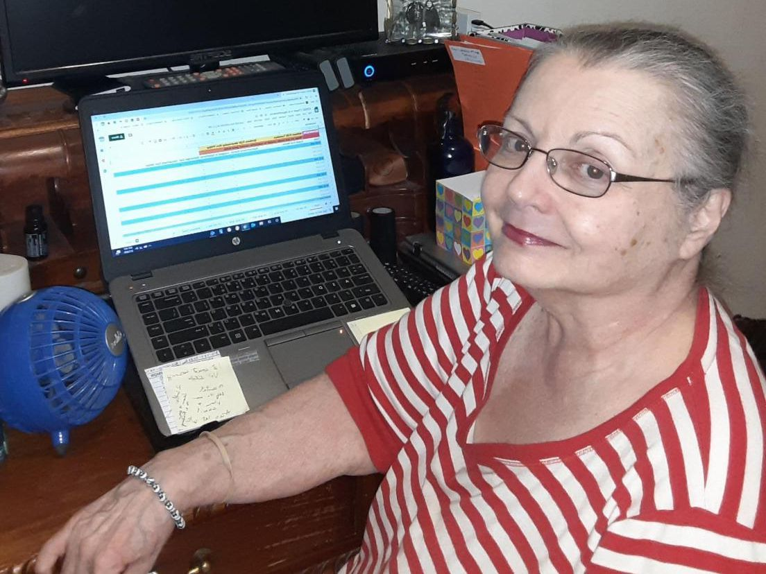 Jill Keiser working from home