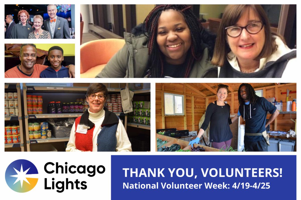 National Volunteer Week Chicago Lights 2020
