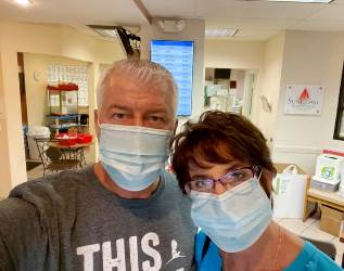 Dean and Terri at blood bank