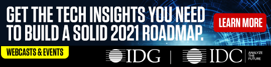 IDG Webcasts and Events Advertisement