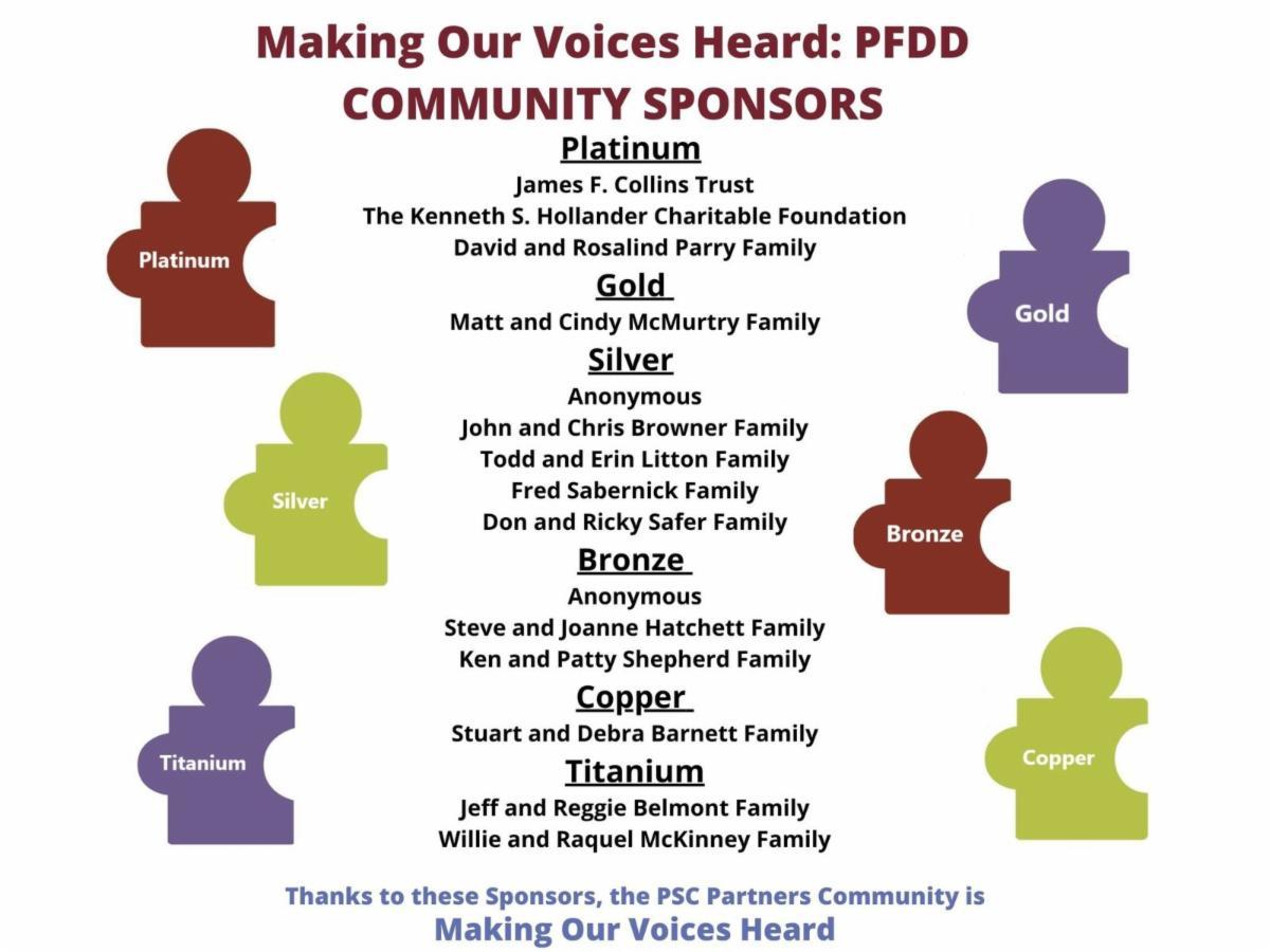 List of PFDD Sponsors