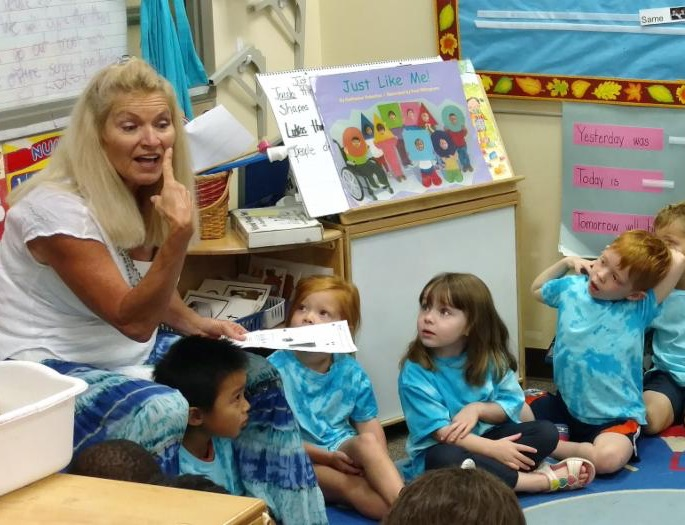 Young children learning in classroom