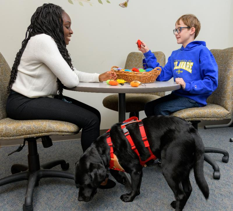 Grad student counseling student w disabilities