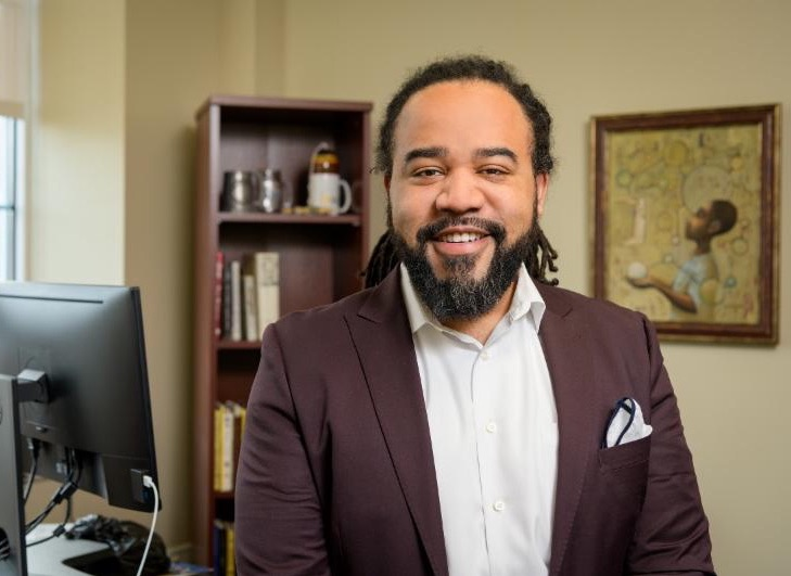 Roderick Carey in his office
