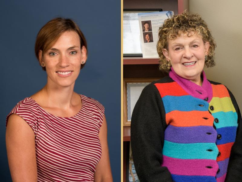 Liz Farley Ripple and Roberta Golinkoff headshots