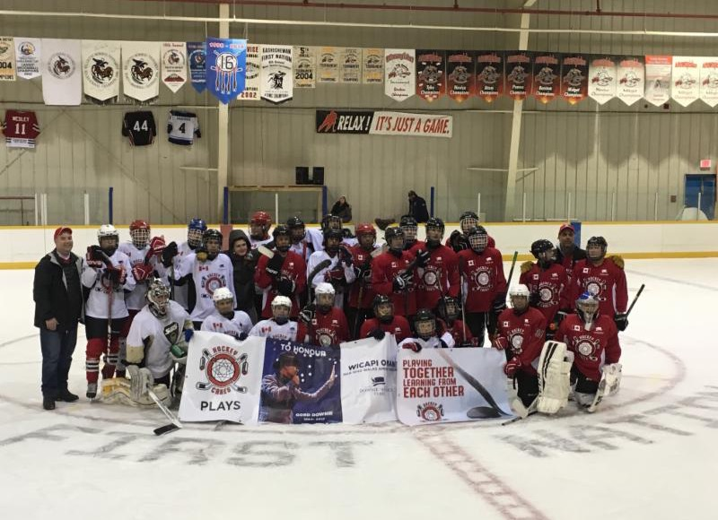 Fire and Ice team photo after final game on Sunday.