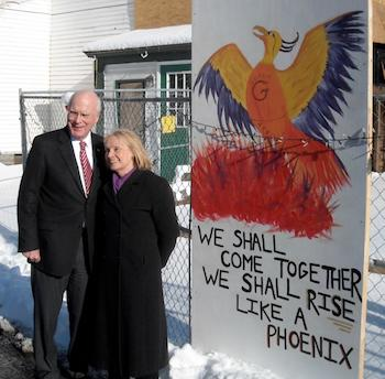 Senator Patrick Leahy and Marcelle Leahy in Putney_ VT 2010.