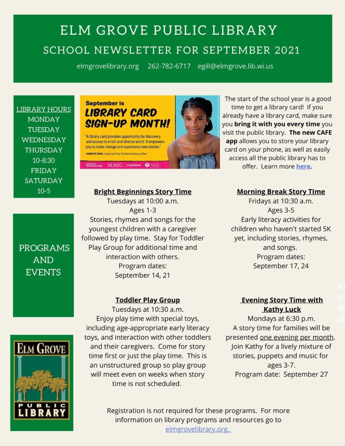 Elm Grove Library September  2021 School Flyer.jpg