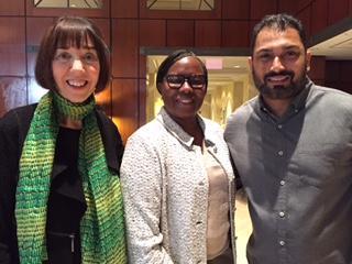 Patrice O'Neill with Felicia Sanders and Pardeep Kaleka