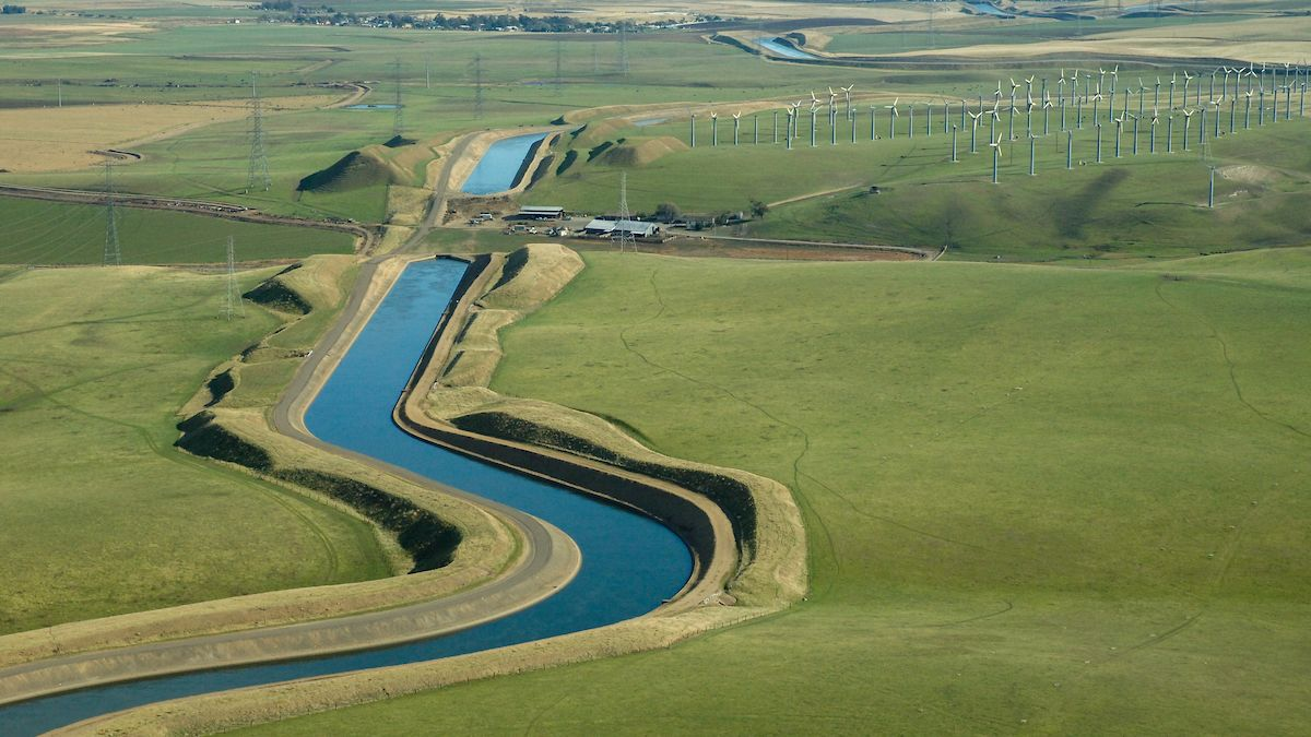 A canal constructed by the US Bureau of Reclamation