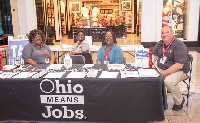 Ohio Means Jobs booth at 2016 Business Expo