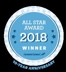 Constant Contact 2018 All Star Award logo