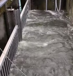 Heavy flows at treatment plant