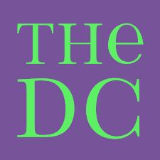 black field white serif text THE DC