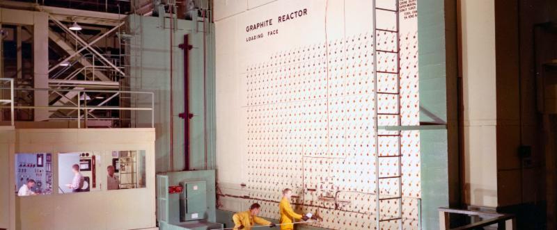 The interior of the X-10 Graphite Reactor, 1960s. Photo courtesy of DOE Oak Ridge Office.