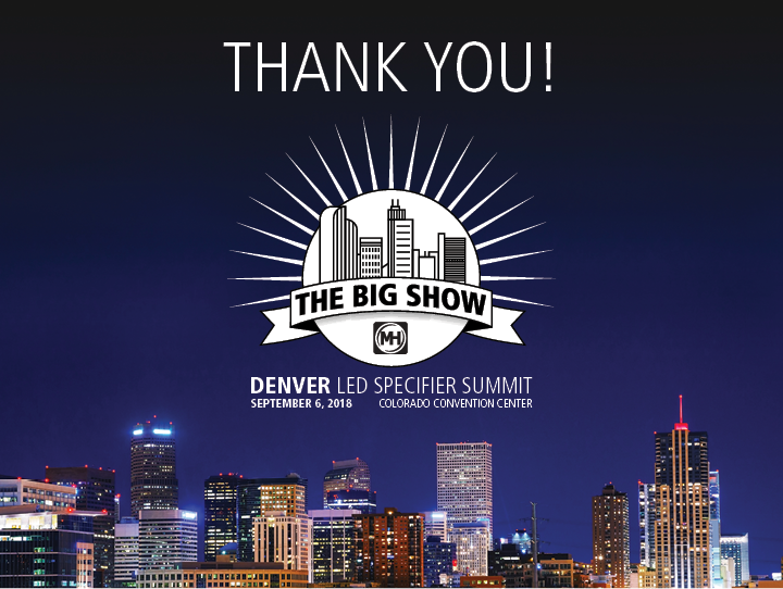 LED Specifier Summit Thank You Banner