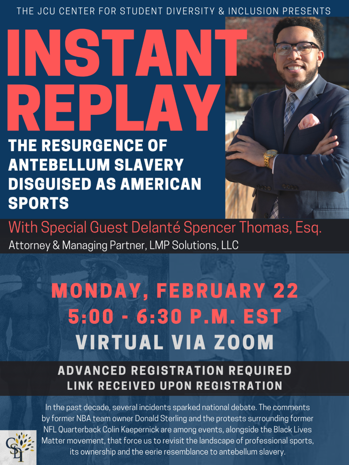 Flyer promoting Instant Replay event