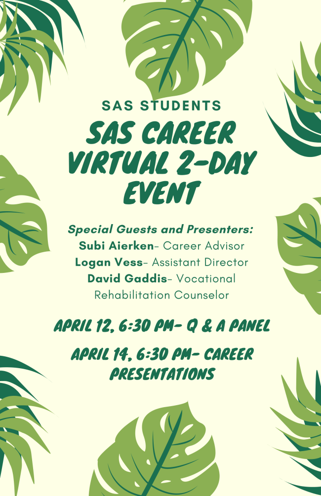 image of SAS career event flyer