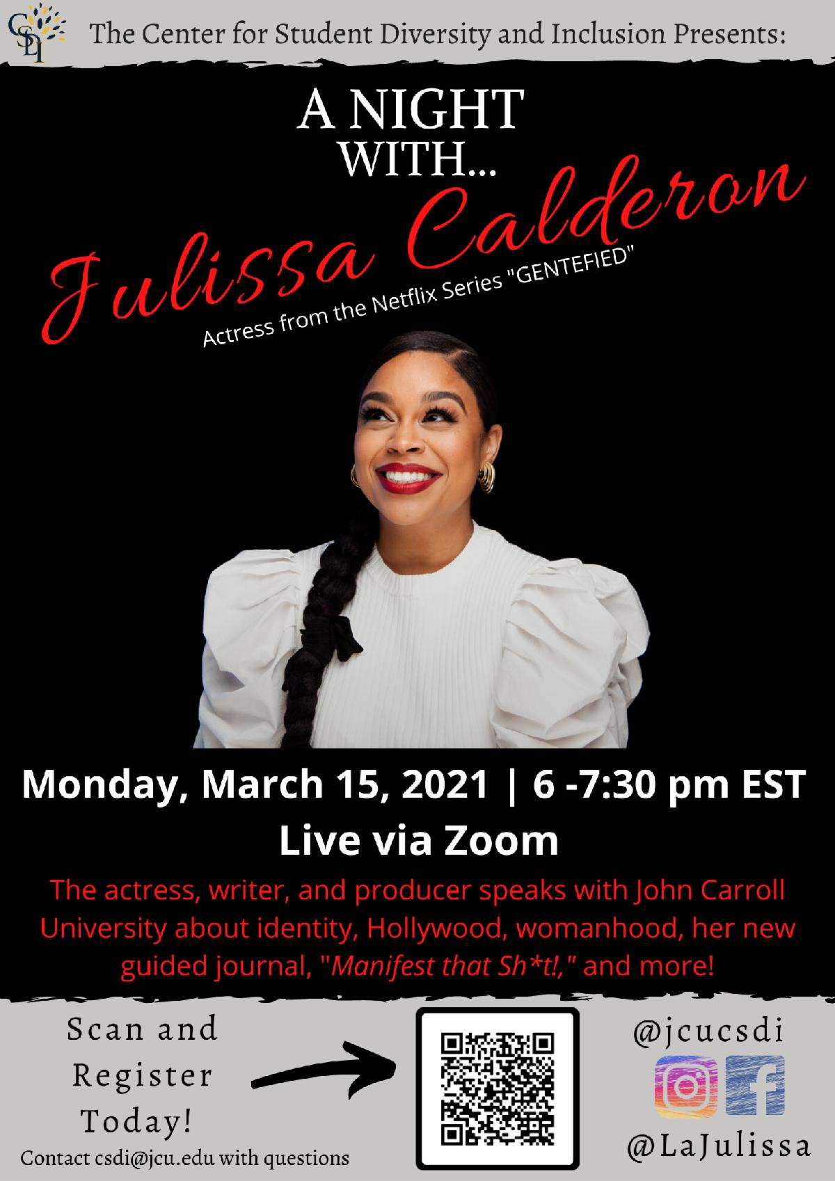 promo image for Julissa Calderon event