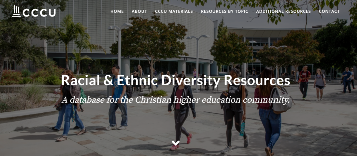 Screenshot of CCCU website