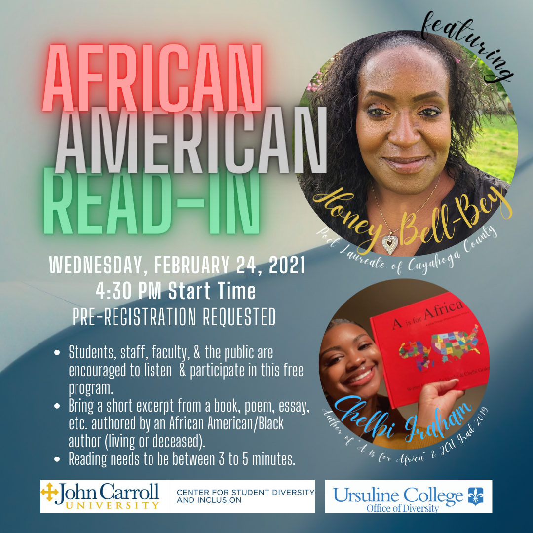 Promo image for African American read in