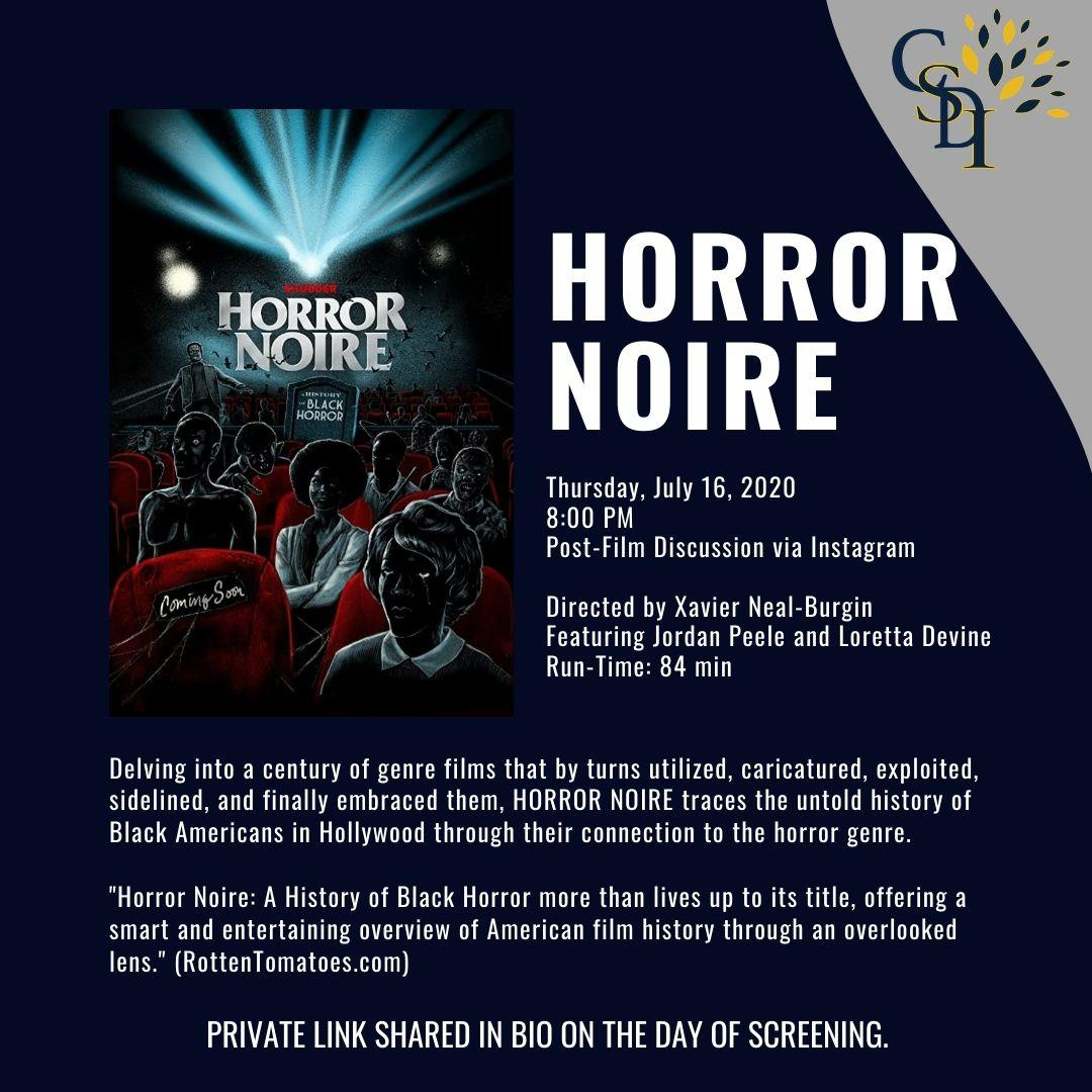 Promotional image for Horror Noire screening July 16