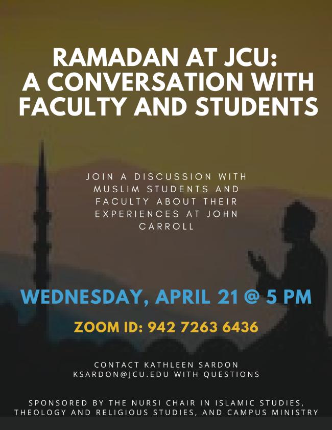 Promo flyer - Ramadan at JCU