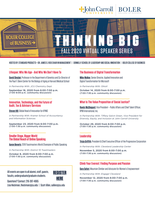 Thinking Big series promotional flyer