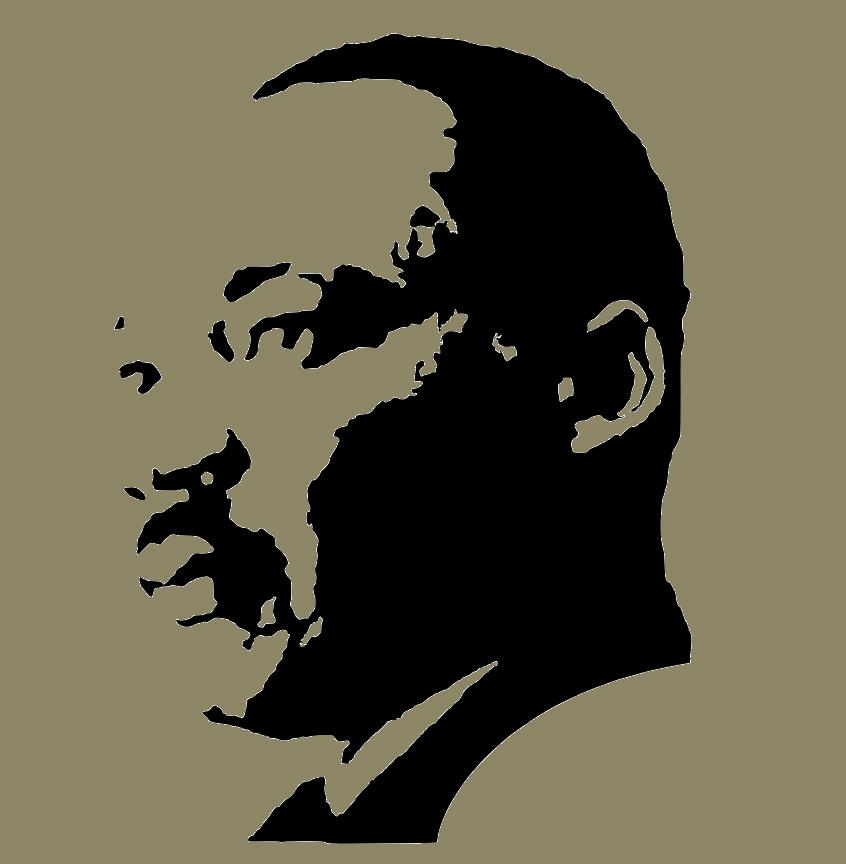 image of MLK in silhouette