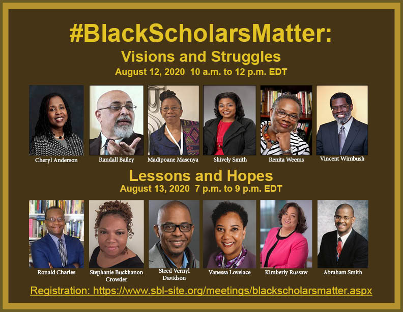graphic of Black Scholars Matter symposium participants