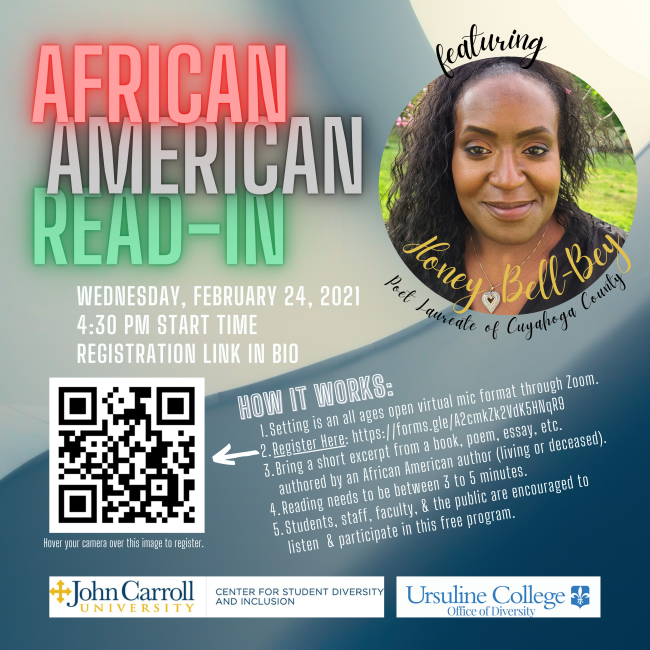 Promo flyer for African-American read-in