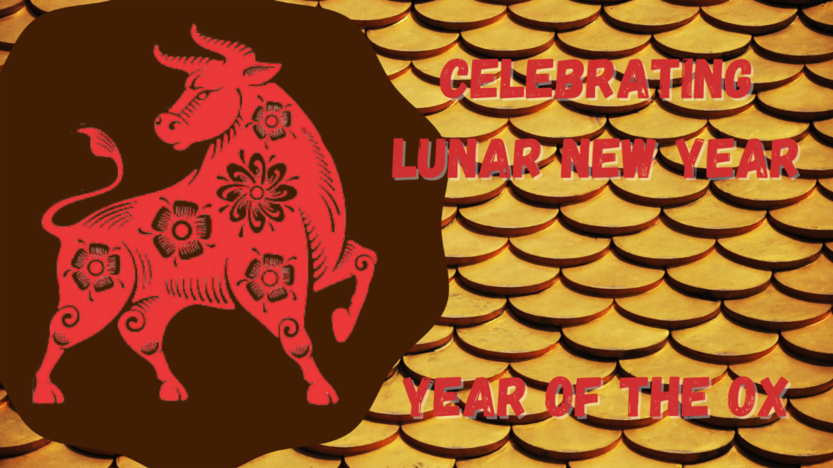 Image of ox with words Celebrating Lunar New Year - Year of the Ox