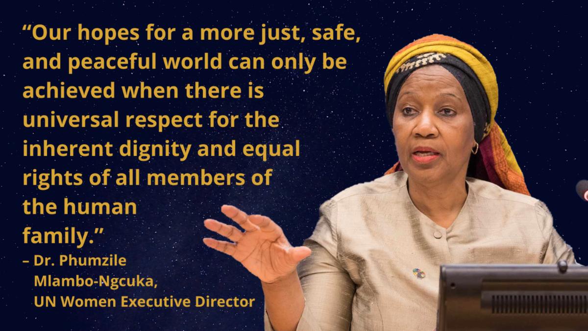 Quotation from Dr. Phumzile Mlambo-Ngcuka